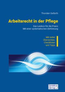 """Cover des Buches """"Arbeitsrecht in der Pflege"""""""